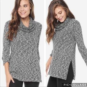 Splendid Lakefront Cowl Neck Sweater Tunic L